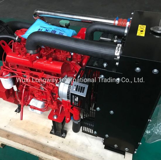 FAW 80kw 4 Cylinder Water Cooled Fire Fighting Diesel Engine (4DX22-110) pictures & photos