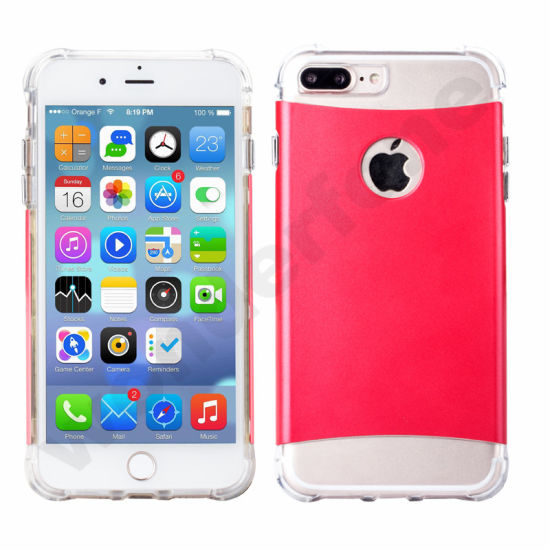 2in1 PC TPU Hybird Transparent Cases for iPhone 6 7