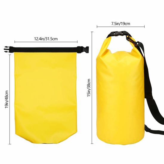 Floating Waterproof 10L 500d PVC Dry Bag Tarpaulin Bag
