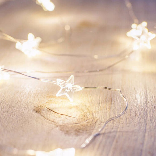 Wholesale Flashing Copper Wire Mini Star LED Rope Indoor Bedroom Decoration Christmas Light