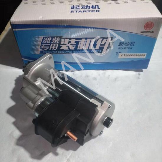Weichai Diesel Engine Parts Strarter Motor 612600090806 for Sinotruck, Shacman, Beiben, FAW