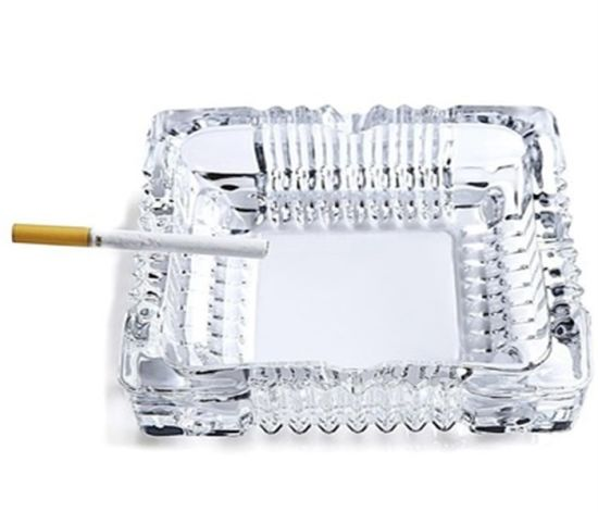 Square Glass Cigar Ashtray Custom Crystal Glass Ashtray pictures & photos