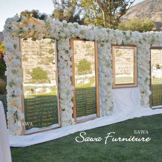 Wolesale Luxury Gold Flower Wall Wedding Backdrop For Wedding Reception Background