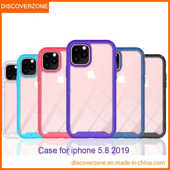 New Sky Series Color Point iPhone11PRO Mobile Phone Case acrylic PC+TPU Clear Cellphone Cover for iPhone11