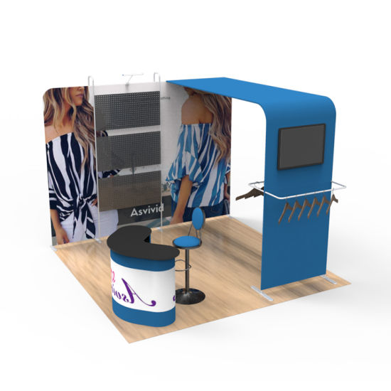 Lightweight Tension Fabric Display Tradeshow Booth for Exhibition