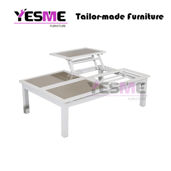 China Modern Lift Top Tea Coffee Table Outdoor Aluminum Tempered