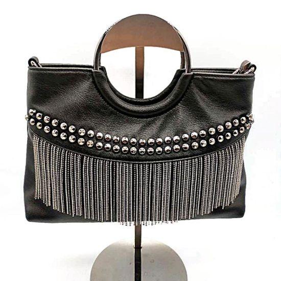 High Quality Fashion Metal Fringe Bag Selling Fashion Ladies Handbag