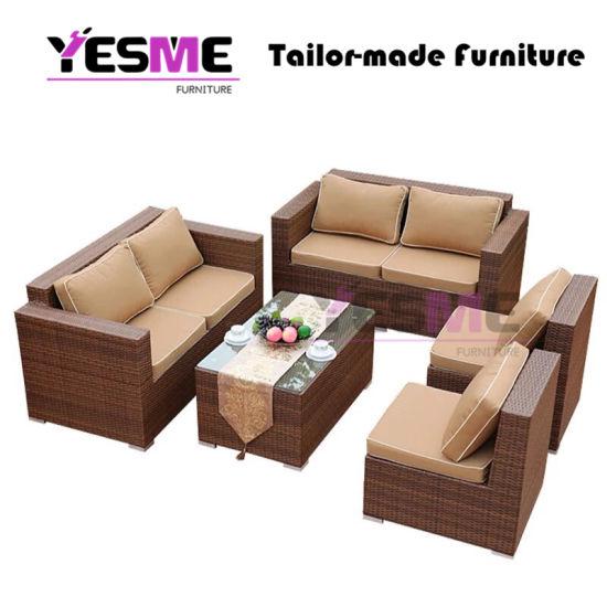 Fashion Wholesale Outdoor Rattan Garden Wicker Furniture Sofa