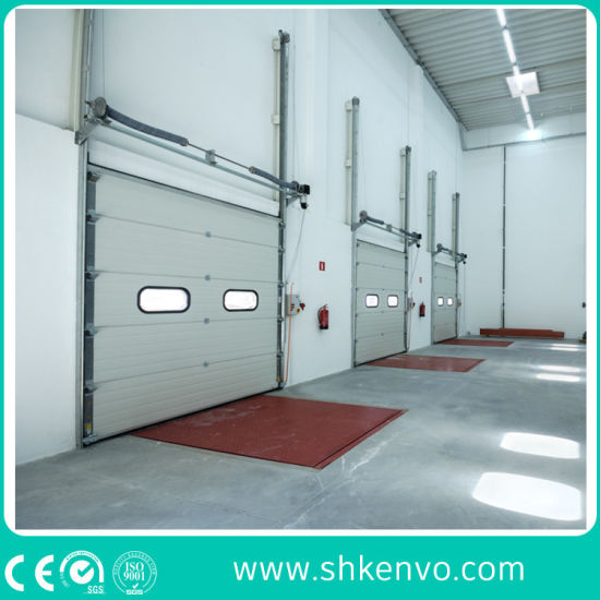 Industrial Electric Thermal Insulated Vertical Roll up Sectional Door for Cold Room or Warehouse