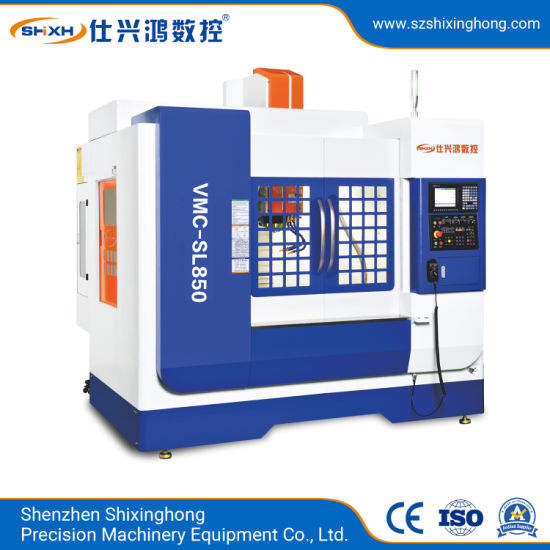 Vmc-SL850 High-Speed Vertical Machining Center (Three-Axis Rail) for Metal Parts Hardware, 3c Products, Mold, Auto Parts, Telecom Device, Steel Processing