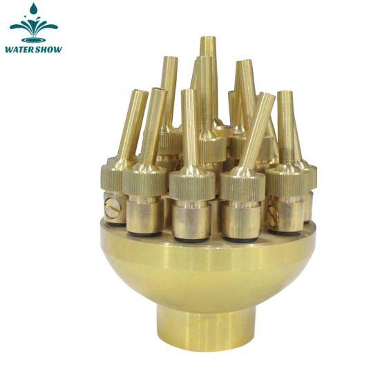 High Pressure Brass Adjustable Three Flower Water Fountain Nozzle