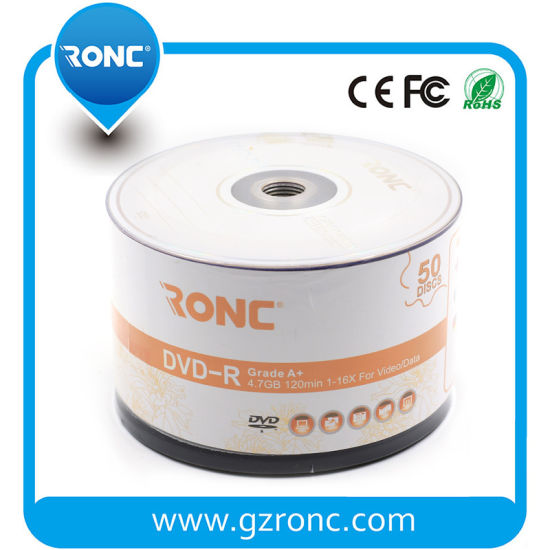 Logo Customized Or Ronc Brand Blank DVD R 8X 16X Speed
