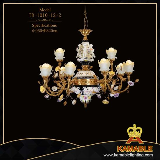 Interior Design Classical Marble Flower Pendant Light (TD-1010-12+2) pictures & photos