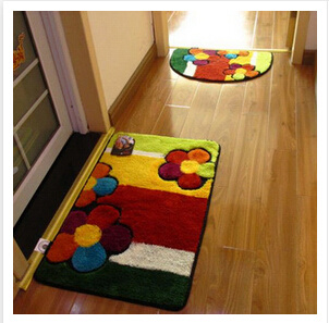 2018 Wholesale Summer Home Decor Quilted Fabric Floor Mat pictures & photos