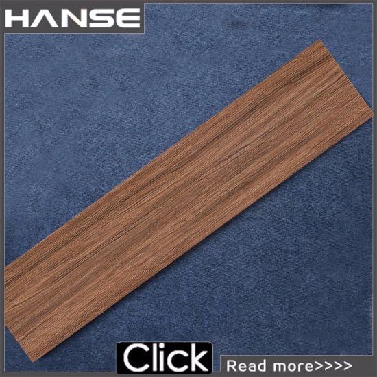 China Low Price Roman Glazed Rustic Bathroom Wood Pattern Floor Tile