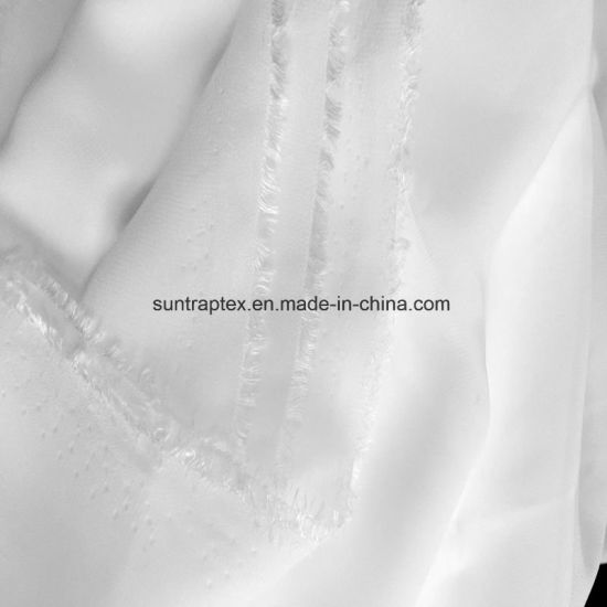 China High Quality Polyester White Color Chiffon Fabric Georgette