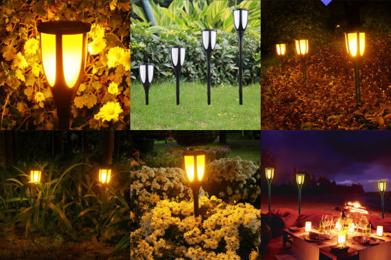 Waterproof Flickering Flames Torches Lights Outdoor Solar Spotlights Landscape Decoration For Patio Deck Driveway