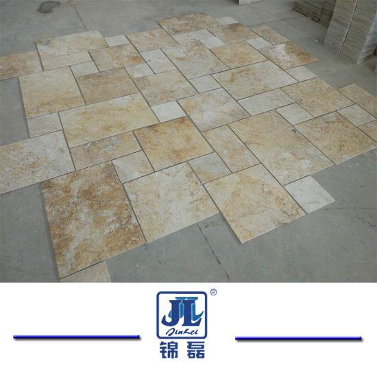Natural Honed French Cut Beige Travertine For Kitchen Bathroom Livingroom Swimming Pool Floor Tile Mosaic Fireplace Slab