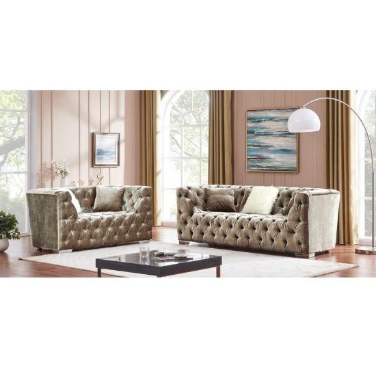 Furniture Velvet Corner Sofa Sectional