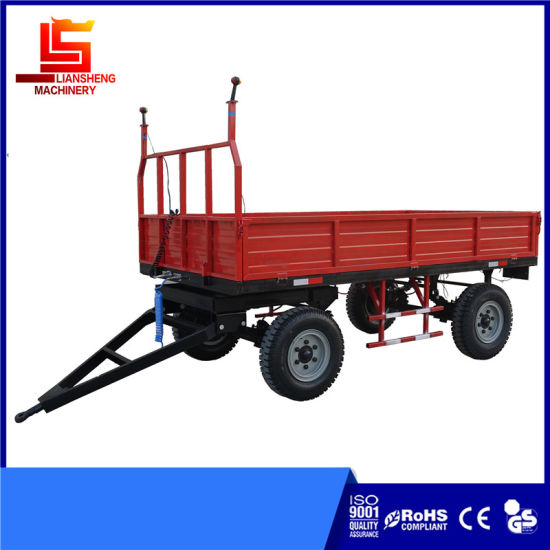 Agricultural Machinery Tractor Farm Hydraulic Dump Tipper Trailer