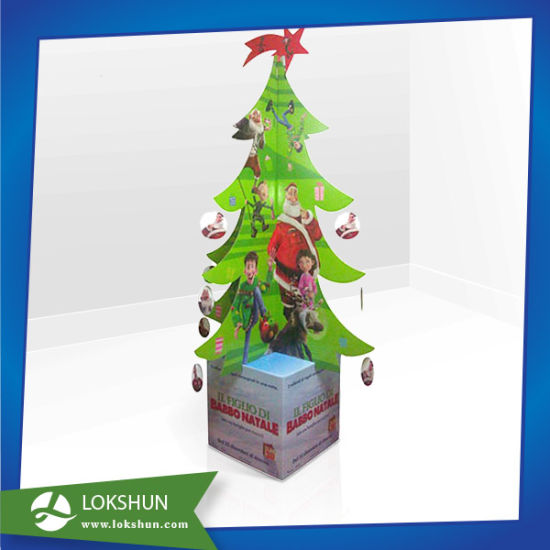 Promotional Christmas Tree Corrugated Cardboard Shelves Display Stand pictures & photos