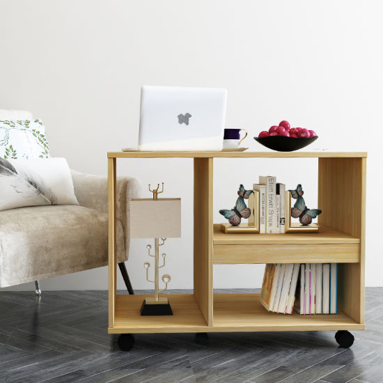 Merveilleux Home Furniture Modern Wooden Coffee Table, Movable Side Table