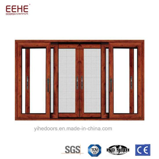 Hotsale Pictures Aluminum Window And Door With Mosquito Net Design