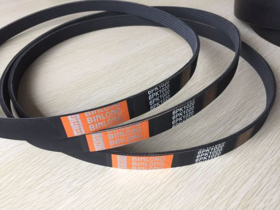 High Quality Rubber Ribbed Poly V-Belts pictures & photos