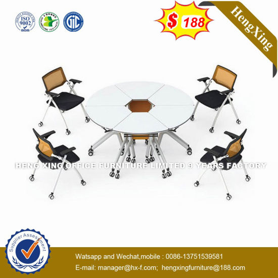 Leather Triangle Meeting Room Square Conference Table (HX-8N1073) pictures & photos