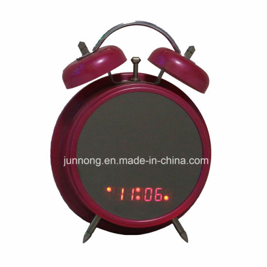 Led Novelty Twin Bell Alarm Display Table Clock China Ring Bell Clock And Alarm Clock Price Made In China Com
