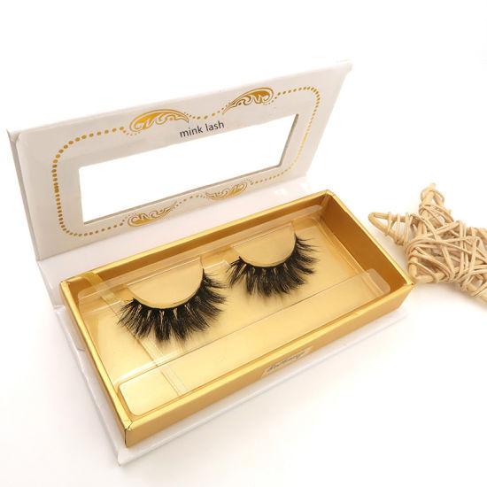 Wholesale Makeup Durable Eyelash Black Cotton Mink False Eyelashes