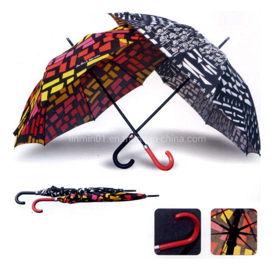 Custom Outdoor Promotional Rain Sun Straight Golf Gift Stick Umbrella