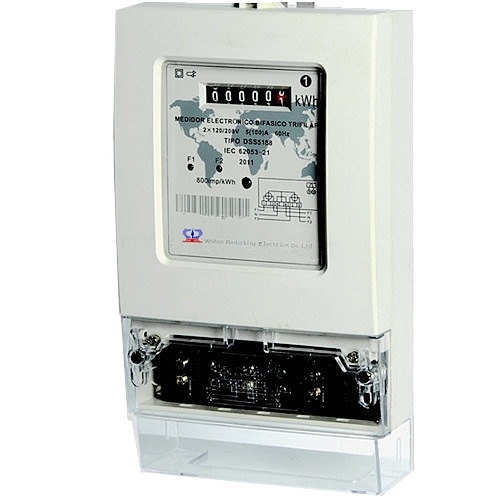 Single Phase Kwh Electronic Energy Meter Against Water Penetration