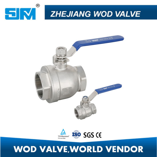 1//2 inch Threaded 1pc Ball Valve Female Stainless Steel SS 304 BSPT for Water Oil Gas,Wide Range of Applications Ball Valve