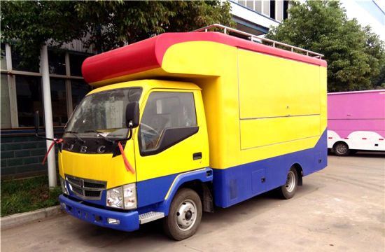 China Mobile Ice Cream Food / Fast Food Sales Truck Kitchen Truck ...