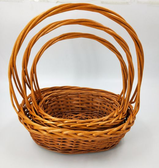 2018 New Design Handmade Natural Willow Basket with Handle (BC-WB13) pictures & photos