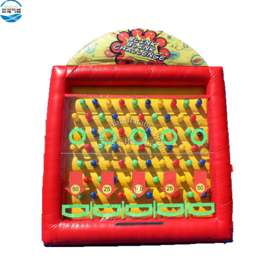Factory Price Rental Air Inflatable Pinball Games / Inflatable Plinko Carnival Game for Kids and Adults
