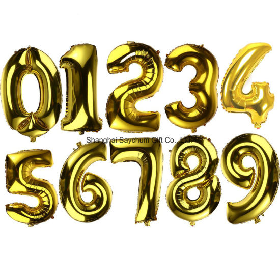 cheap and big alphabet letters and numbers party decoration foil balloons