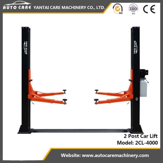 2 Post Car Lift Floorplate Auto Hoist Manual Release