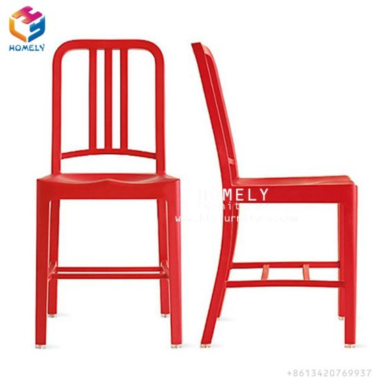 Red Aluminum Dining Chair Aluminum Navy Chair Patio Chair