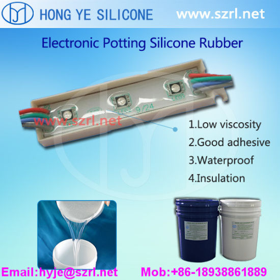 RTV-2 High Transparent 50 Shore a Electronic Potting Silicone Rubber