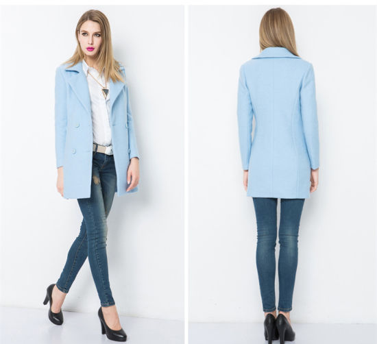 a49a0b67d New Style Ladies Long Coat Design Brand Name Coats pictures & photos