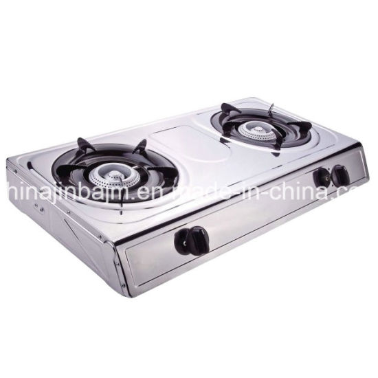 2 Burners 710 Length Stainless Steel Honeycomb Gas Cooker/Gas Stove