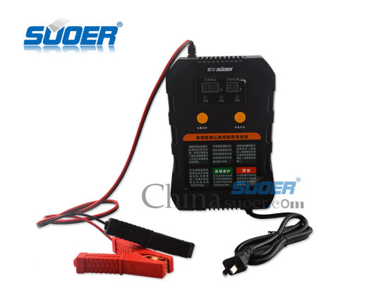 Suoer Intelligent 12V 24V 2A 4A 6.9A Automatic Car Battery Charger