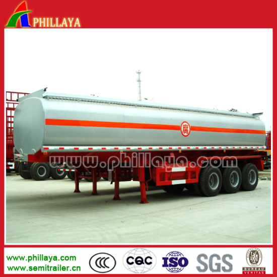 3axles Tanker Semi Trailer Chemical Tank for Sulfuric/Hydrochloric Acid Transporting pictures & photos