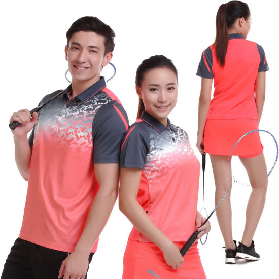 New Design Patchwork Polo 100%Polyester Mesh Quick Dry Breathable Sublimation Badminton Unisex Polo Shirt pictures & photos