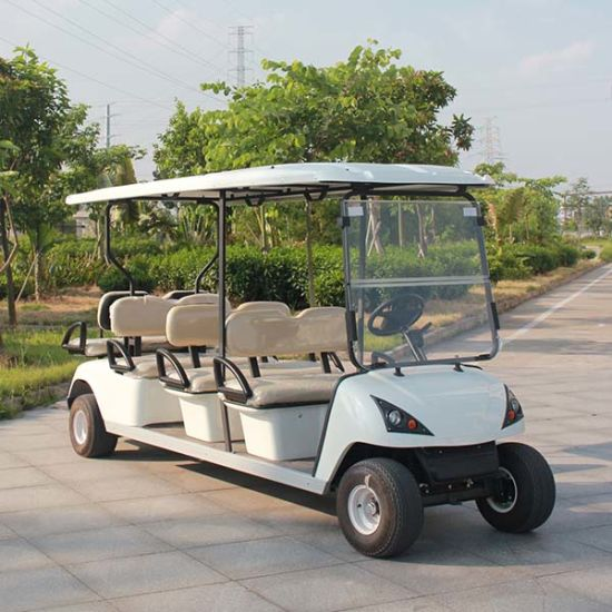 Electric 8 Passenger Golf Cart (DG-C6+2) with CE pictures & photos