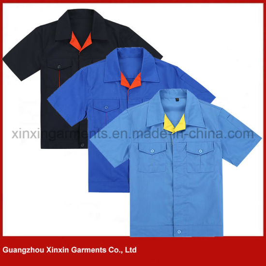 Wholesale Summer Short Sleeve Working Jackets Garments for Men (W102)