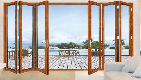China Gold Supplier Frameless Folding Glass Door Lowes Glass