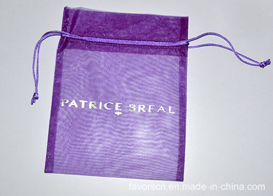 Organza Pouch with Silver Logo Printing (sheer organza bag) pictures & photos